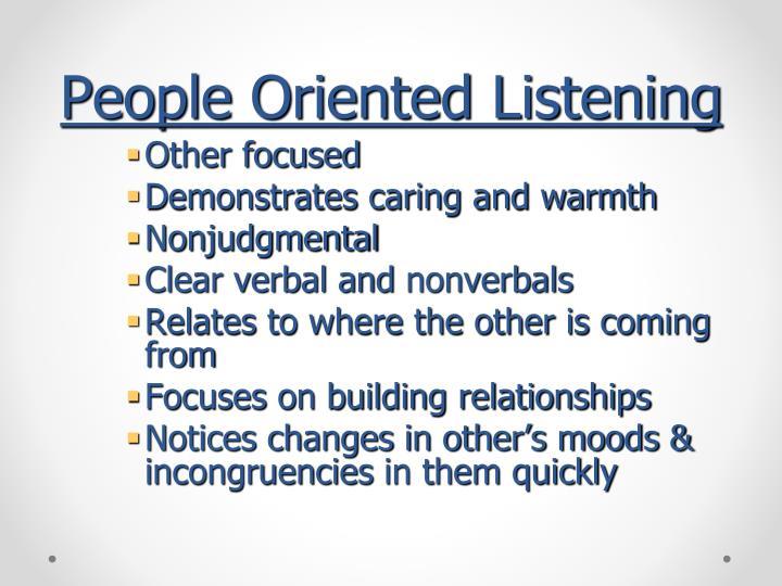 People Oriented Listening