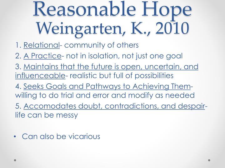 Reasonable Hope