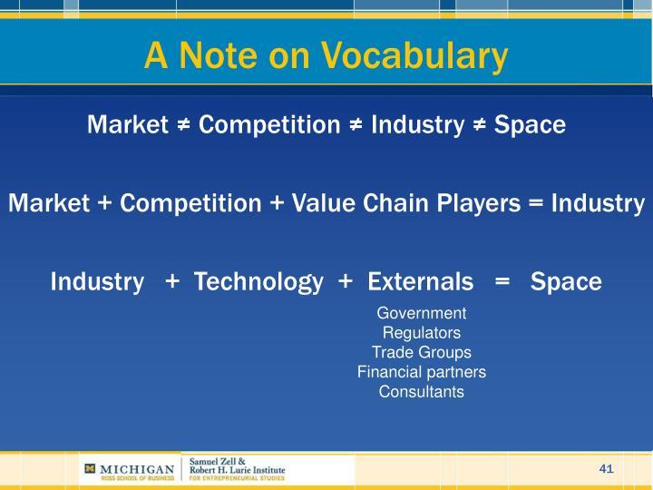 A Note on Vocabulary