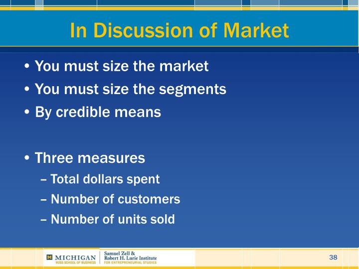 In Discussion of Market