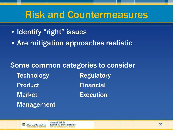 Risk and Countermeasures