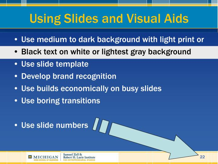 Using Slides and Visual Aids