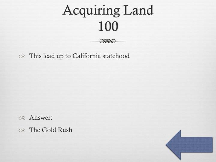 Acquiring Land