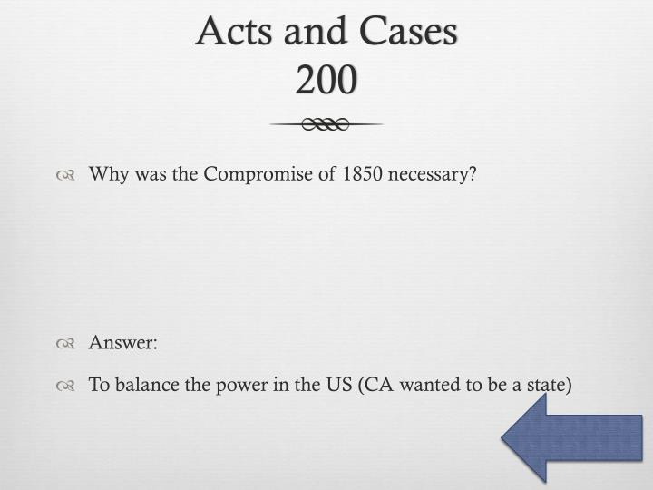 Acts and Cases