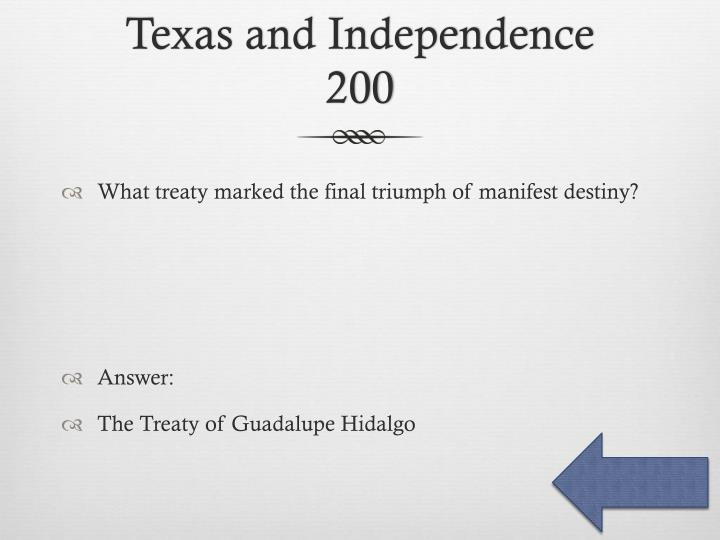 Texas and Independence