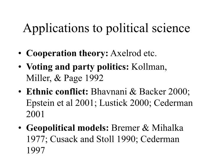 Applications to political science