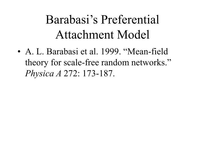 Barabasi's Preferential Attachment Model