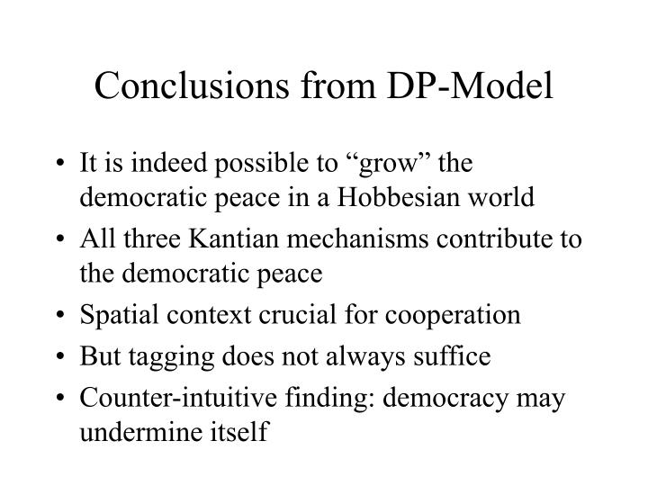 Conclusions from DP-Model