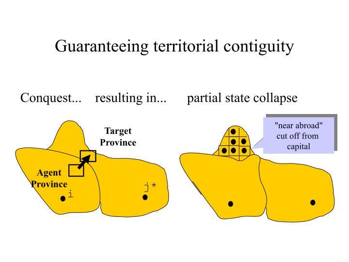 Guaranteeing territorial contiguity