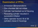 examination of pfds1