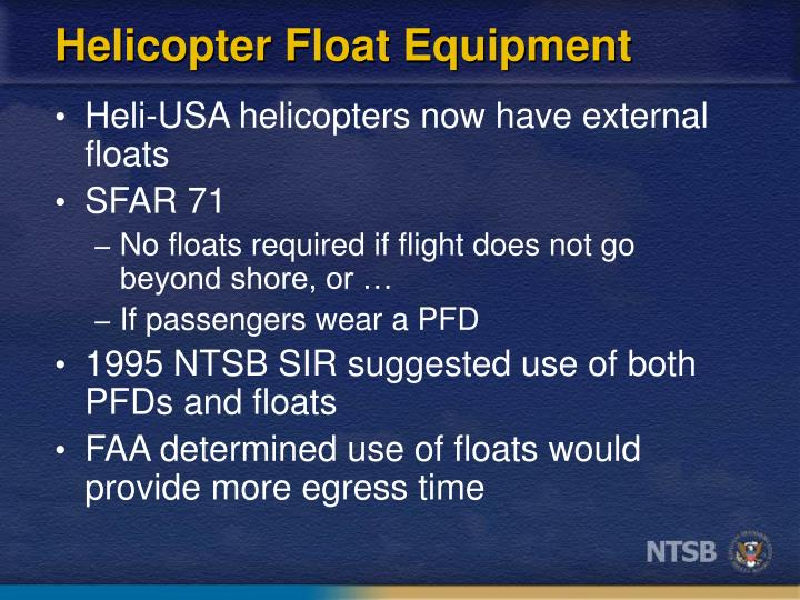 Helicopter Float Equipment