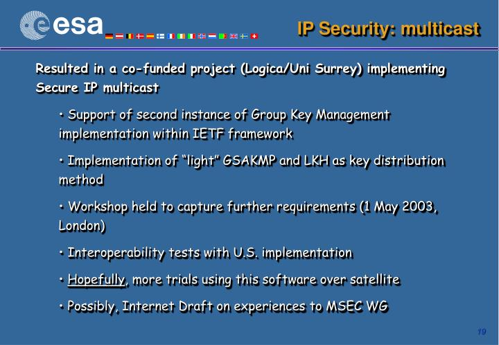 IP Security: multicast