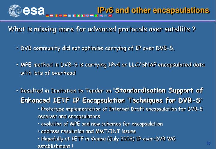 IPv6 and other encapsulations