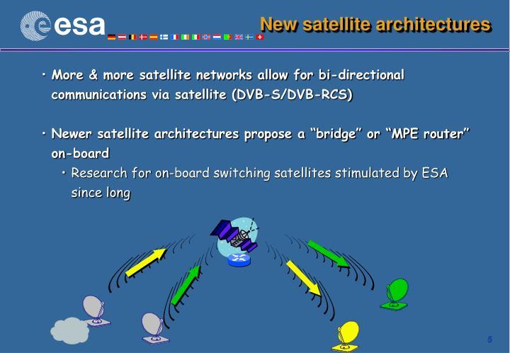 New satellite architectures