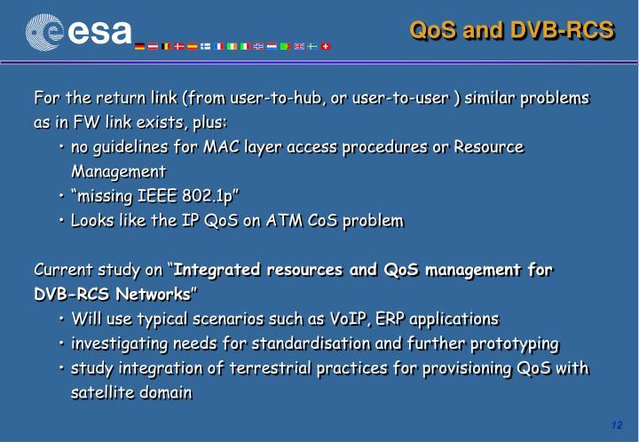 QoS and DVB-RCS