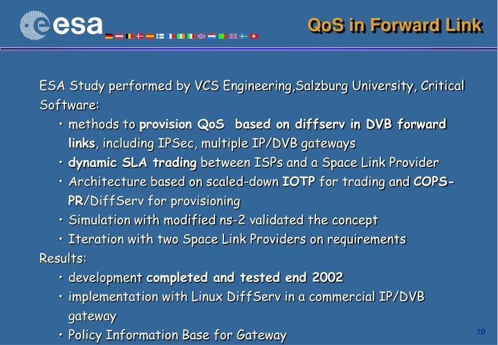 QoS in Forward Link