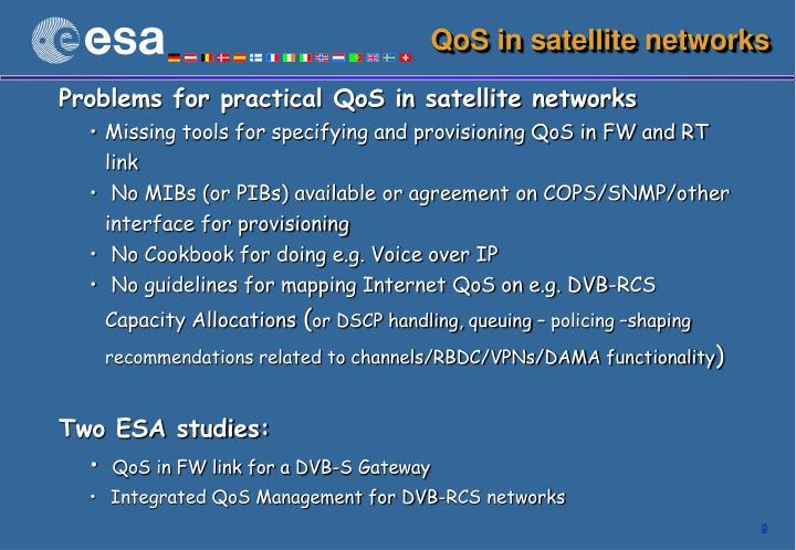 QoS in satellite networks