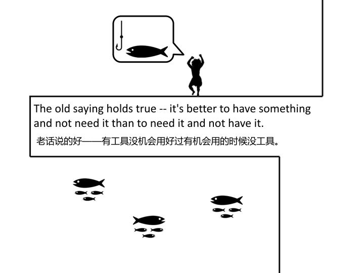 The old saying holds true -- it's better to have something and not need it than to need it and not h...