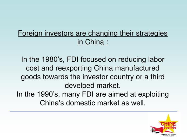 Foreign investors are changing their strategies in China: