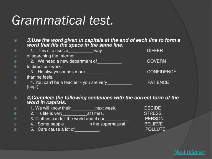 Grammatical