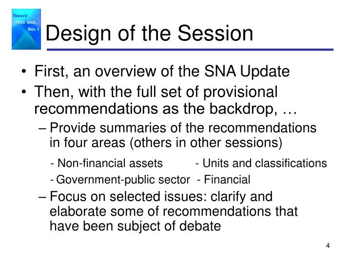 Design of the Session