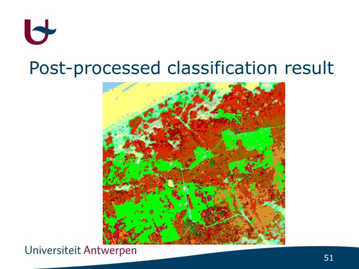 Post-processed classification result