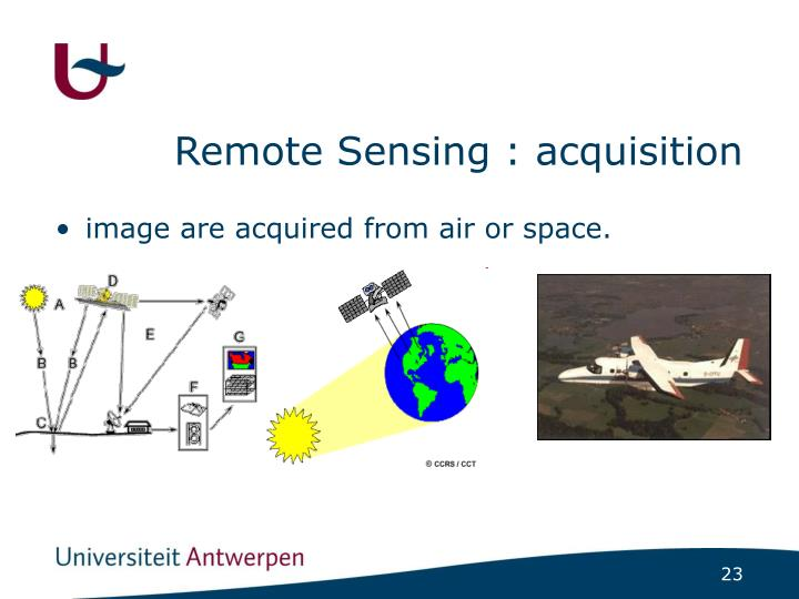 Remote Sensing : acquisition