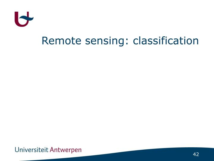 Remote sensing: classification