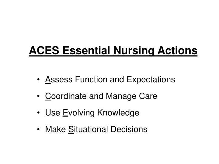 ACES Essential Nursing Actions
