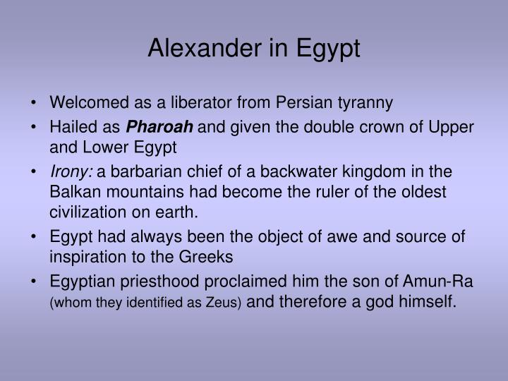 Alexander in Egypt
