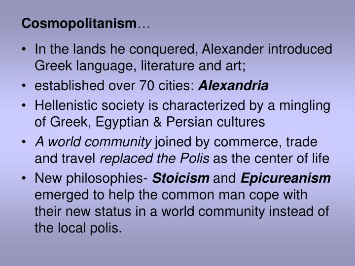 Cosmopolitanism