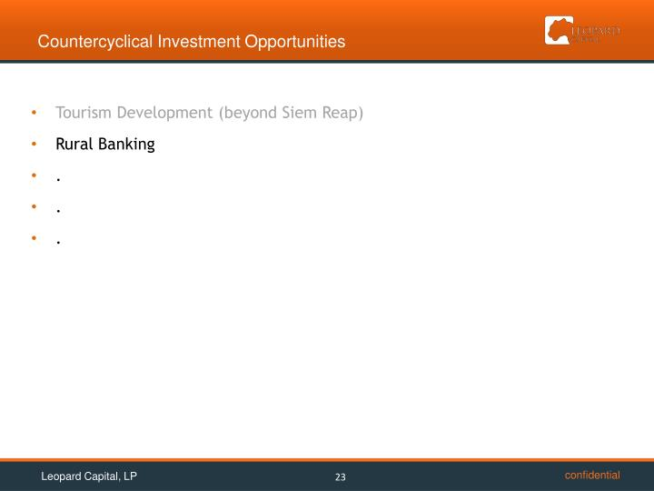 Countercyclical Investment Opportunities