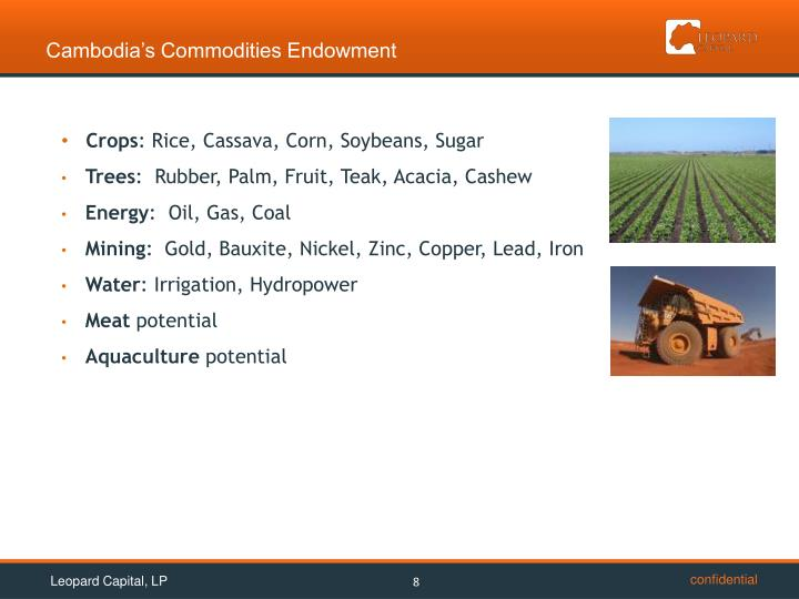 Cambodia's Commodities Endowment