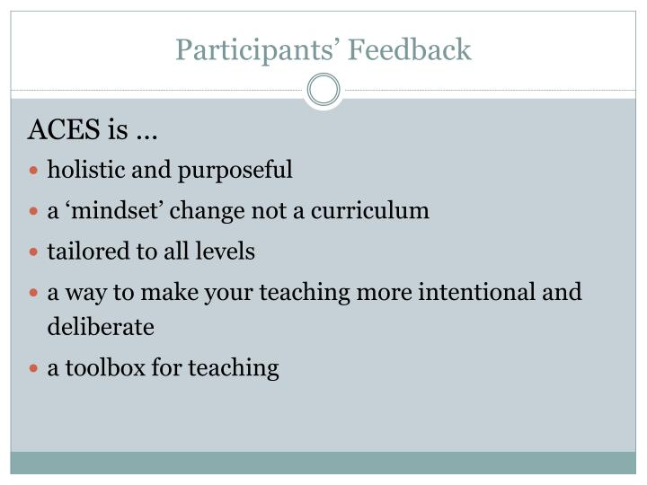 Participants' Feedback