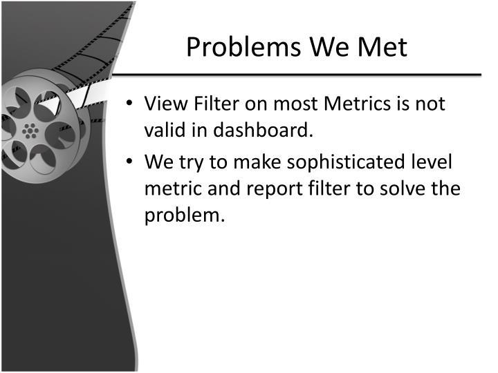 Problems We Met