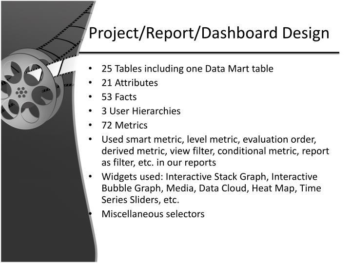 Project/Report/Dashboard Design