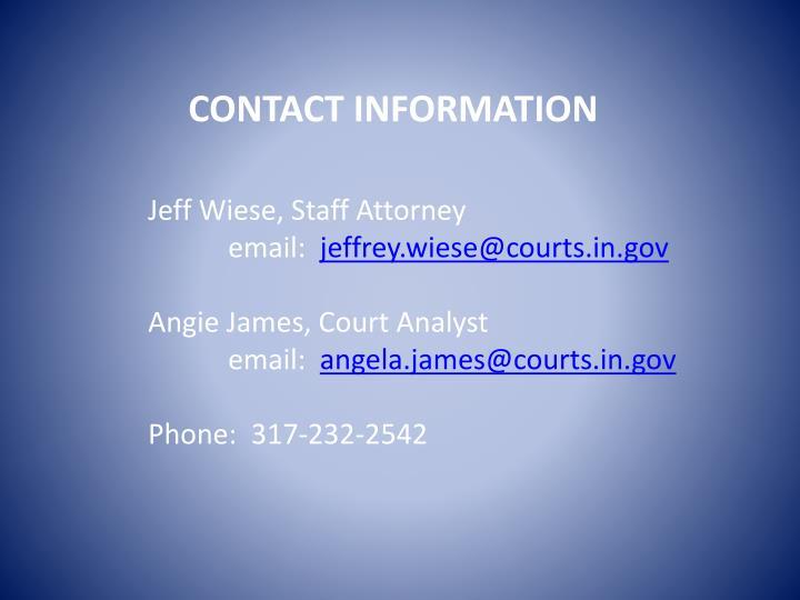 Jeff Wiese, Staff Attorney