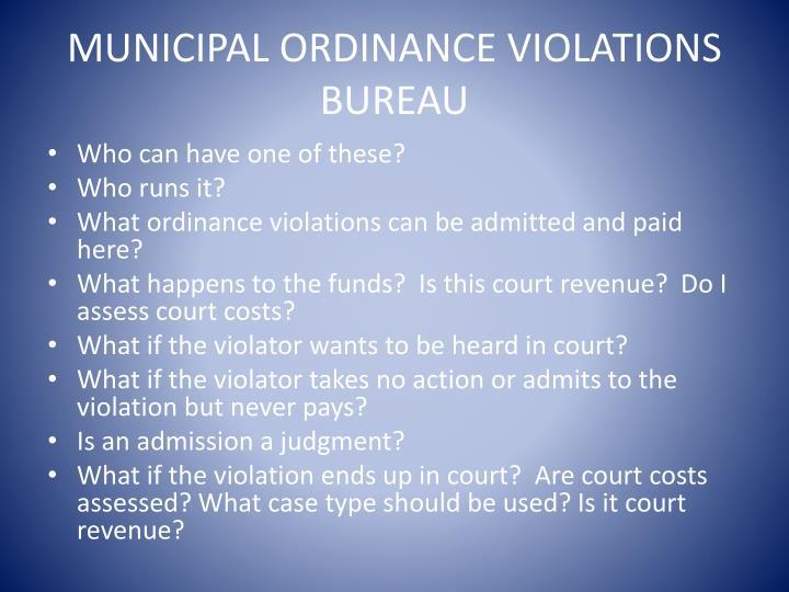 Municipal Ordinance Violations Bureau