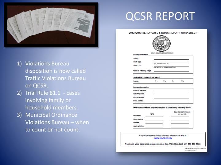 QCSR REPORT