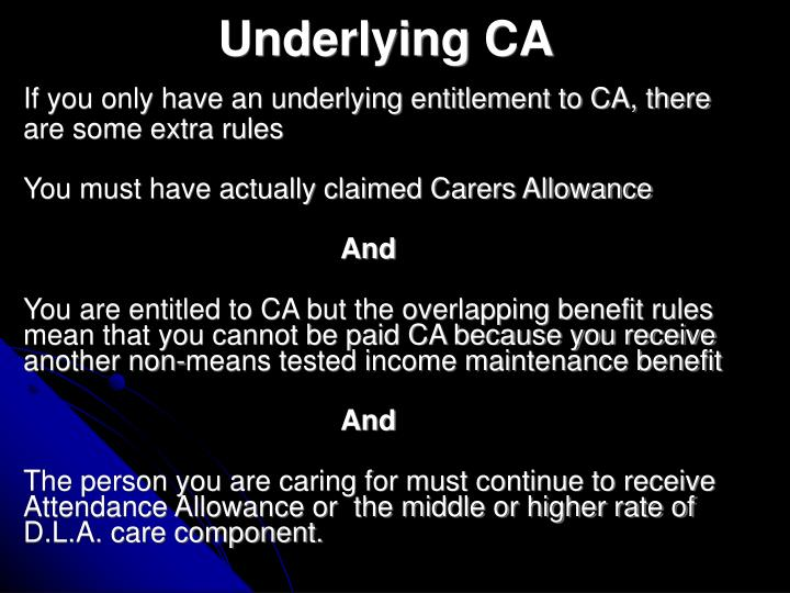 Underlying CA
