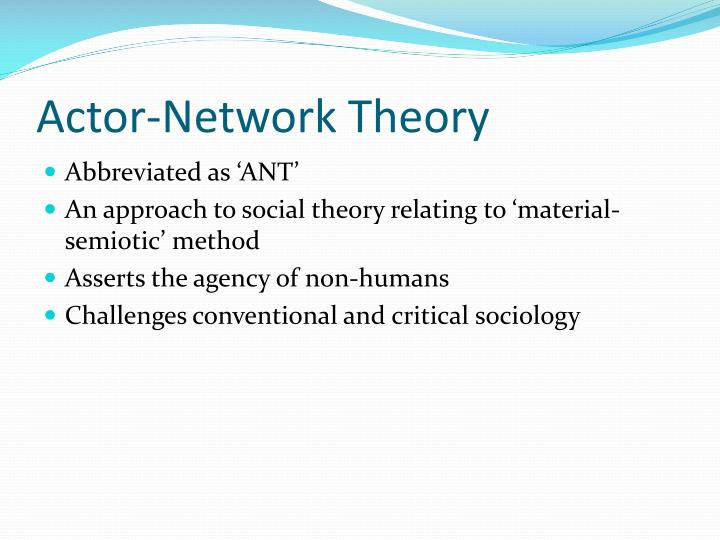 Actor network theory1