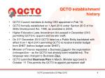 qcto establishment history