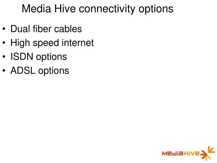 Media Hive connectivity options