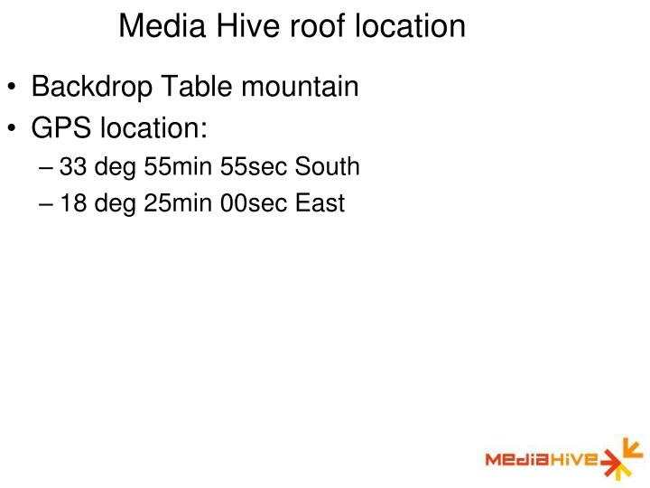 Media Hive roof location