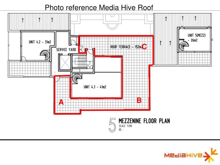 Photo reference Media Hive Roof