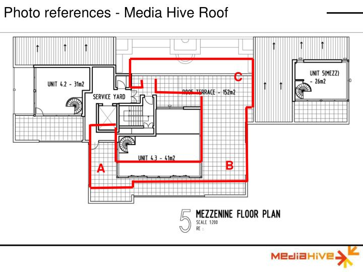 Photo references - Media Hive Roof