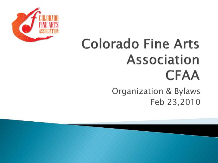 Colorado fine arts association cfaa
