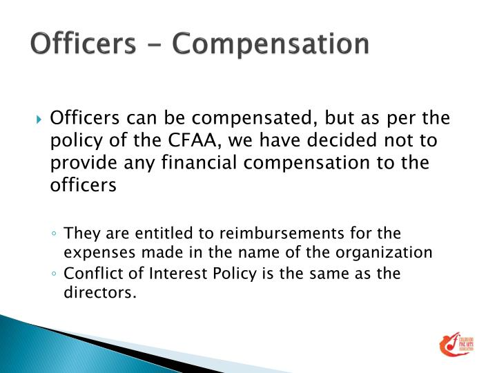 Officers - Compensation