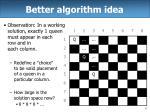 better algorithm idea