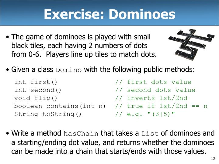 Exercise: Dominoes